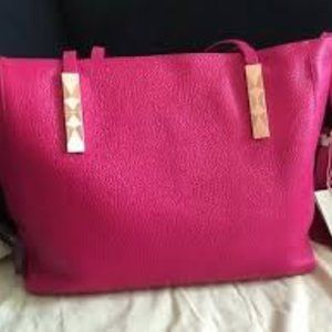 Ted Baker Leather Tote Fuschia